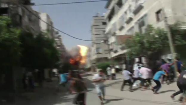 Video «Luftangriff auf den Gazastreifen» abspielen