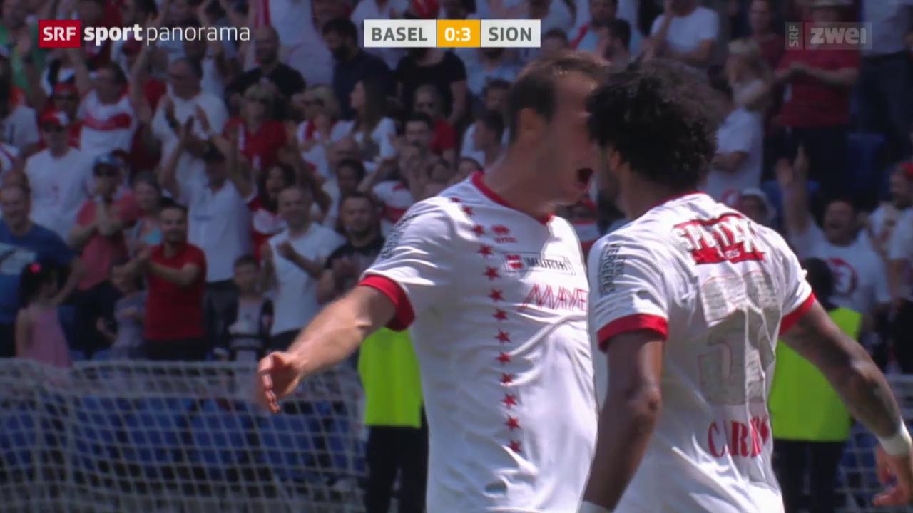 Fussball: Schweizer Cup, Final Basel-Sion