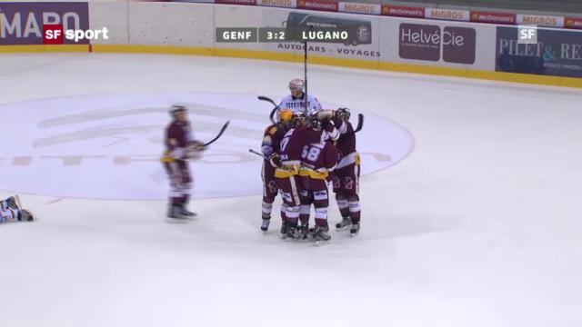 Eishockey: Webers Overtime-Tor gegen Lugano (2.10.)