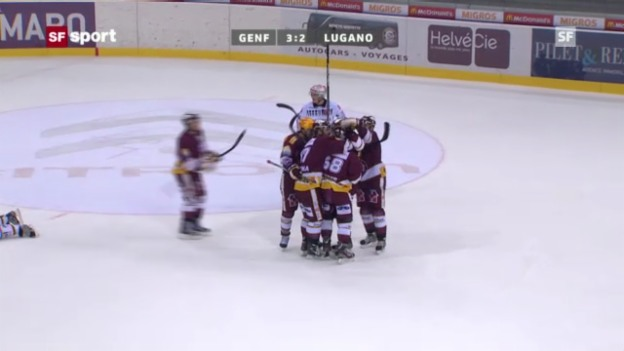 Video «Eishockey: Webers Overtime-Tor gegen Lugano (2.10.)» abspielen