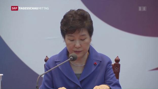 Video «Präsidentin von Südkorea abgesetzt» abspielen