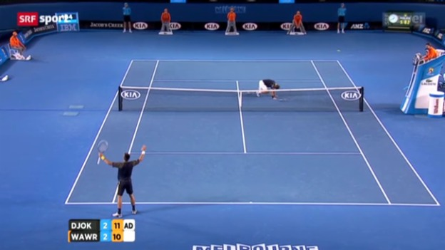 Video «Australian Open: Djokovic - Wawrinka» abspielen