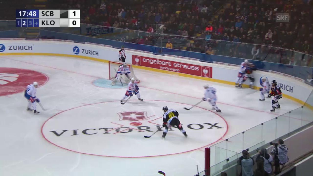Eishockey: Cupfinal Bern - Kloten, das 2:0 und das 3:0