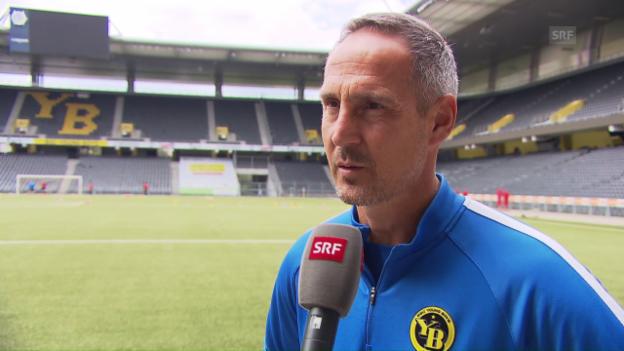 Video «YB-Trainer Adi Hütter über Gegner Schachtar Donezk» abspielen