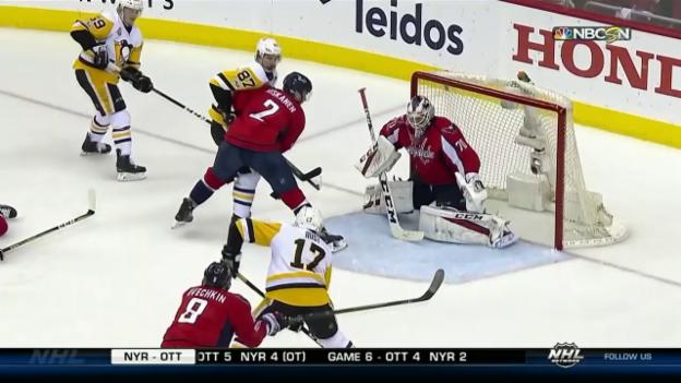 Video «Die Tore bei Capitals - Penguins» abspielen