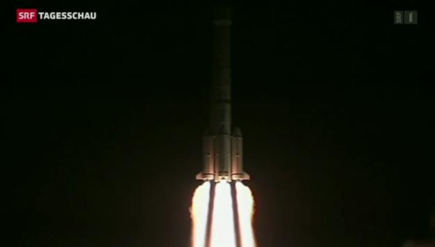 Video «China startet erfolgreich Mondrakete» abspielen