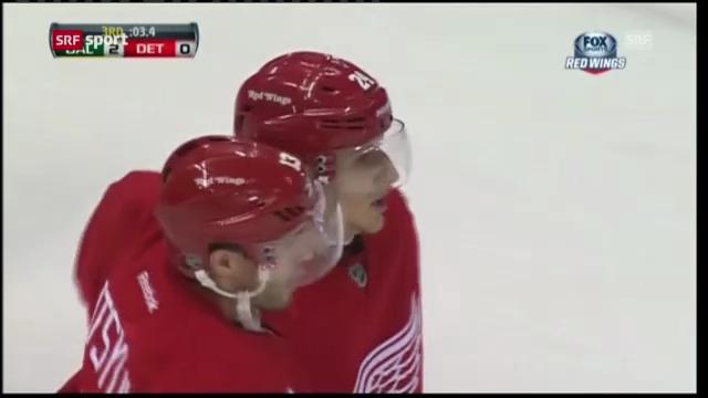 Das 1. NHL-Tor von Damien Brunner («sportaktuell»)