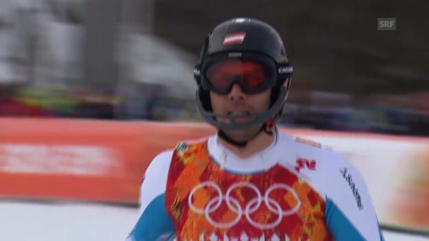 Video «Ski: Zusammenfassung Slalom der Männer (22.02.2014)» abspielen