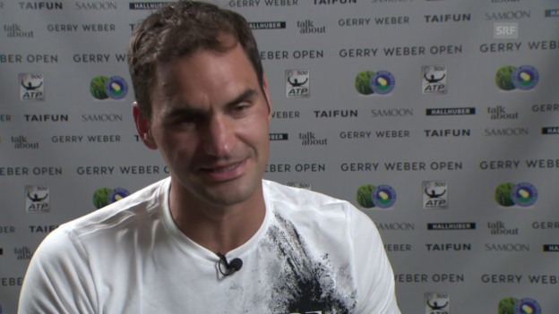 Video «Federer: «Die Zahl 1100 ist schon speziell»» abspielen