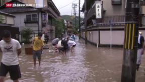 Video «Japan von Tropen-Sturm heimgesucht» abspielen