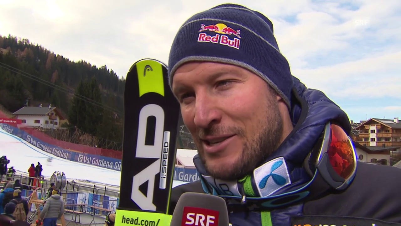 Ski: Training Gröden, Interview Svindal