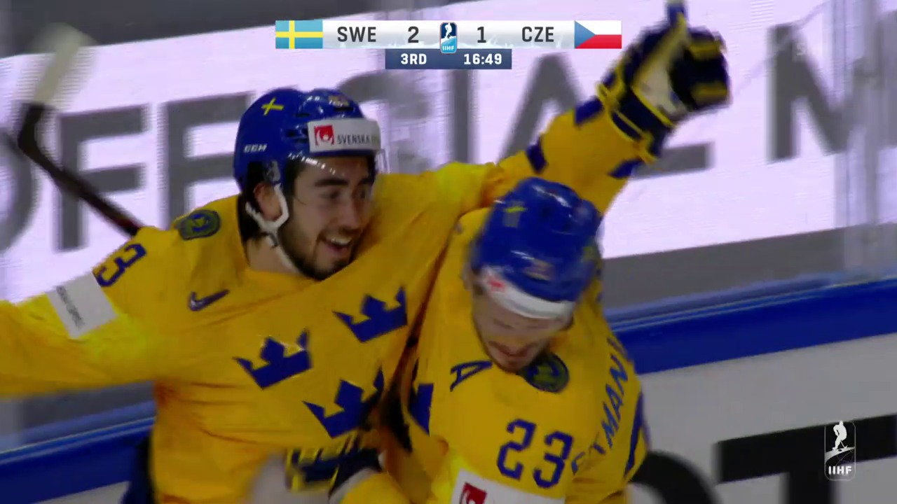 Schweden schlägt auch Tschechien
