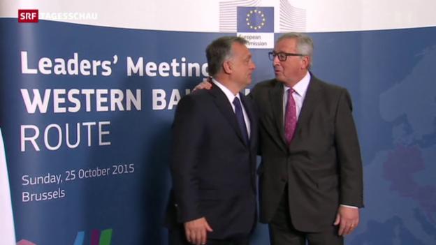 Video «EU-Sondertreffen zur Flüchtlingskrise» abspielen