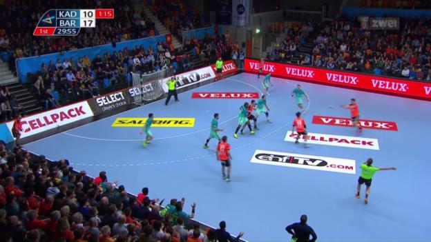 Video «Kadetten gegen Barcelona chancenlos» abspielen