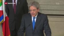 Video «Italiens neuer Ministerpräsident» abspielen