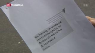 Video «Armee sammelt noch immer zu viel Material» abspielen
