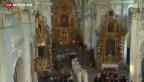 Video «Jubiläumsfeier des Klosters Disentis» abspielen