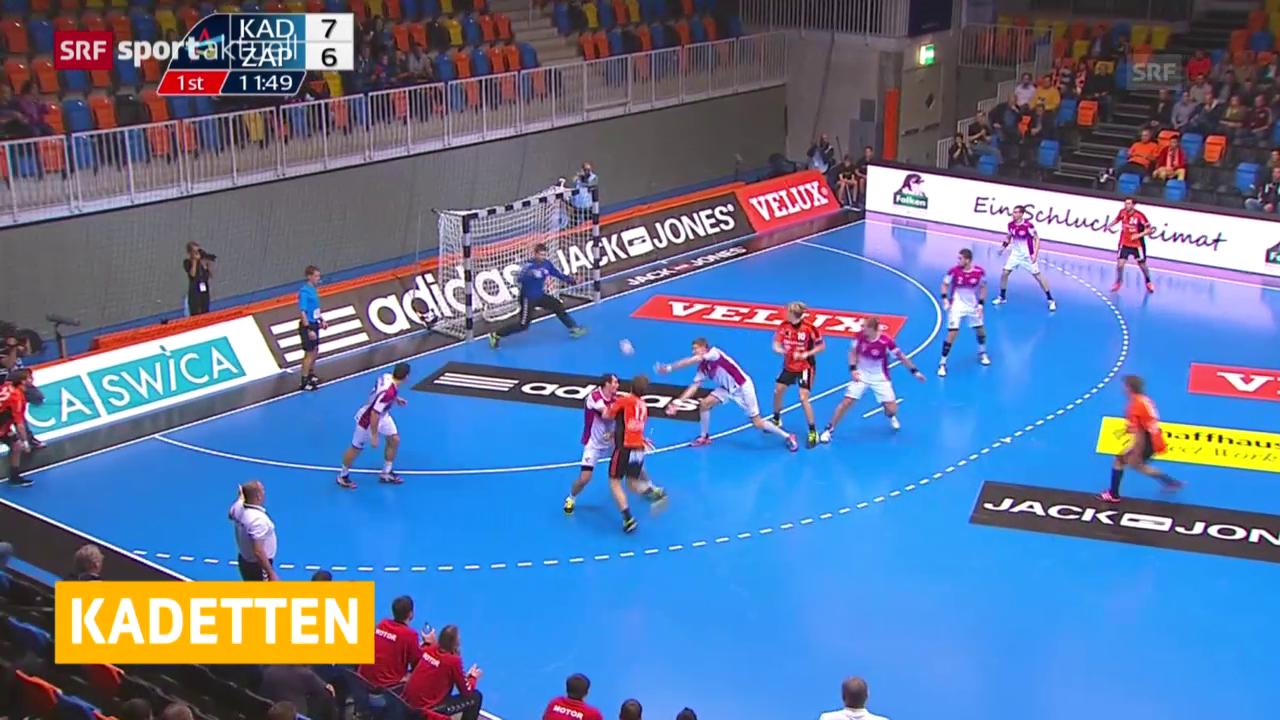 Handball: Champions League, Kadetten-Saporoschje