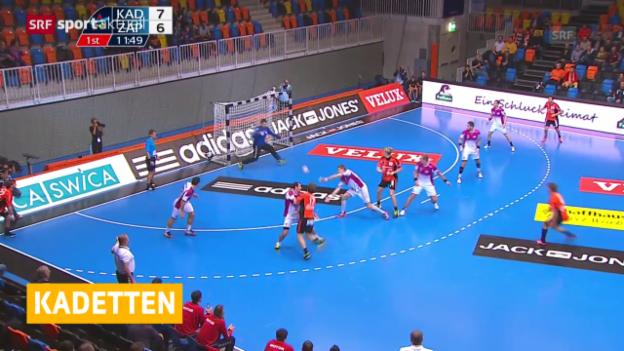 Video «Handball: Champions League, Kadetten-Saporoschje» abspielen