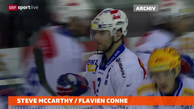 Video «Eishockey: ZSC-Verteidiger Steve McCarthy fällt lange aus («sportlive»)» abspielen