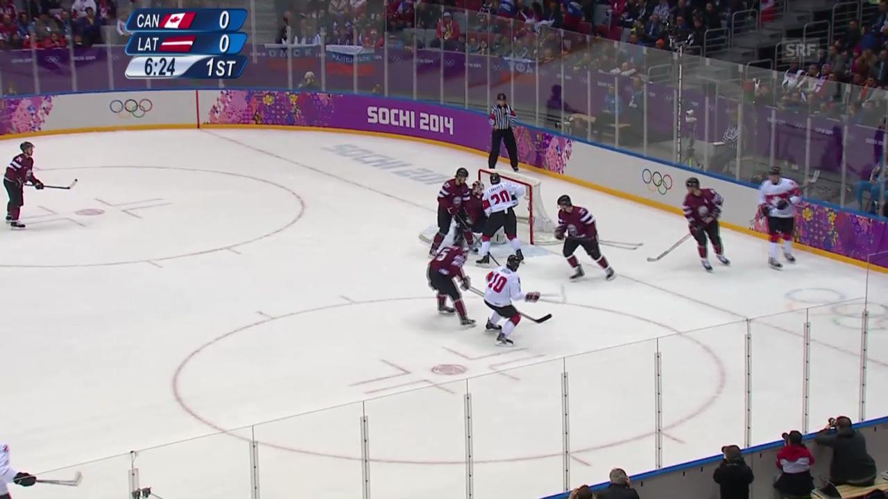 Sotschi: Eishockey, Viertelfinal, Kanada - Lettland