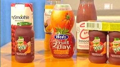 Video «Früchte aus der Flasche: Was die Drinks taugen» abspielen