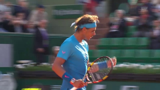 Video «Tennis: French Open 2015, Achtelfinal, Nadal - Sock, der Matchball» abspielen