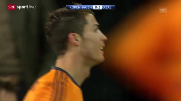 Video «Fussball: CL, Kopenhagen - Real Madrid («sportlive», 10.12.2013)» abspielen