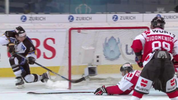 Video «Eishockey: Final Team Canada - Lugano, Tore» abspielen
