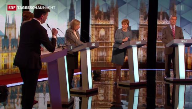 Video «Letzte TV-Debatte vor britischer Wahl» abspielen