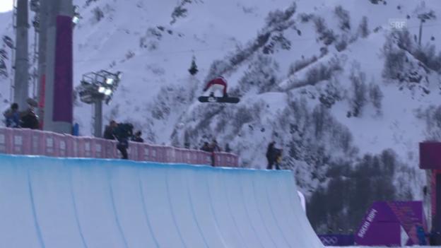 Video «Snowboard: Qualifikation Halfpipe Frauen, Ursina Haller (sotschi direkt, 12.02.2014)» abspielen