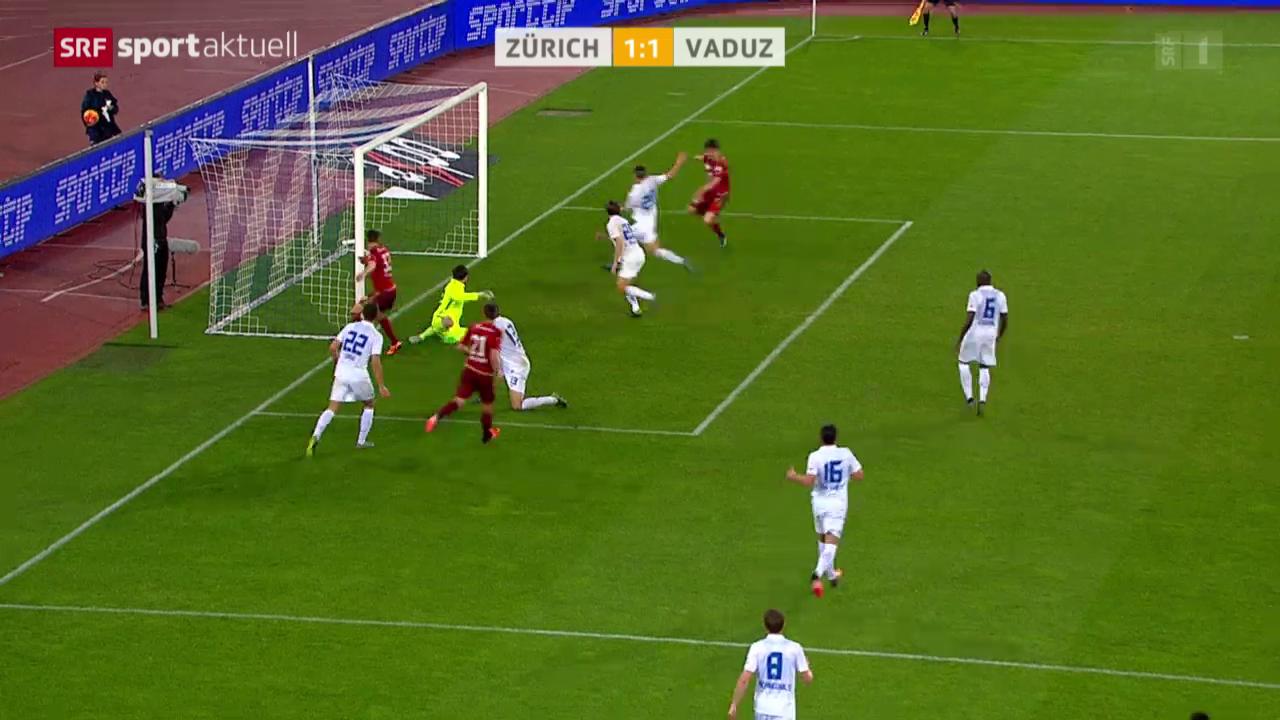 Fussball: SL, FC Zürich - Vaduz