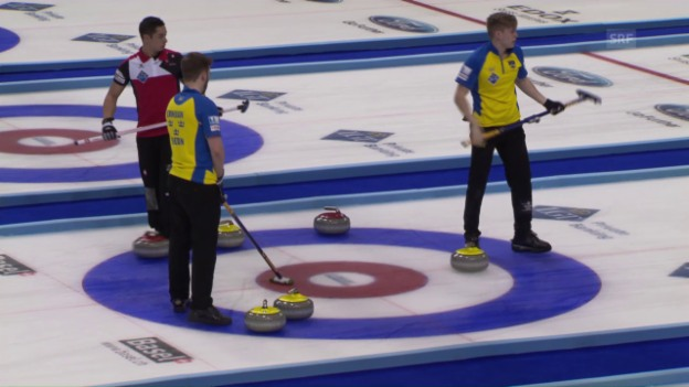 Video «Schweiz unterliegt Weltmeister Schweden» abspielen