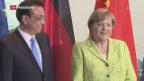Video «Deutschland und China üben Schulterschluss» abspielen
