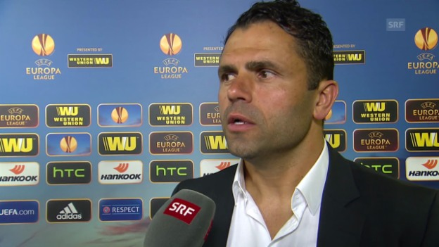 Video «Fussball: Europa League, YB-Bratislava, Interview Uli Forte» abspielen