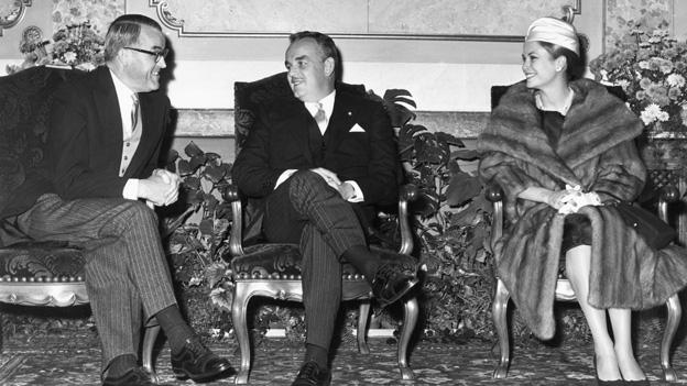 Staatsempfang für Fürst Rainier und Fürstin Grace von Monaco in Bern (08.11.1960)