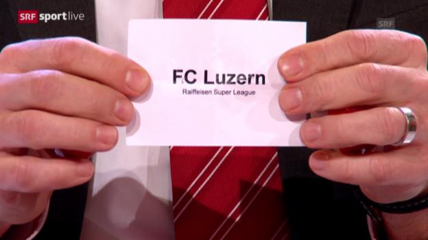 Video «Fussball: Die Auslosung der Cup-Halbfinals» abspielen