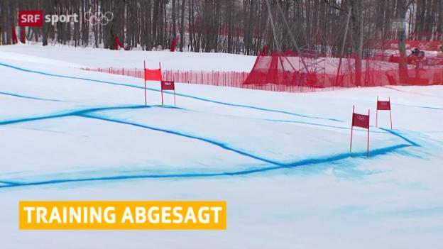 Video «Ski alpin: Kein Abfahrtstraining bei den Frauen («sotschi aktuell», 11.02.2014)» abspielen