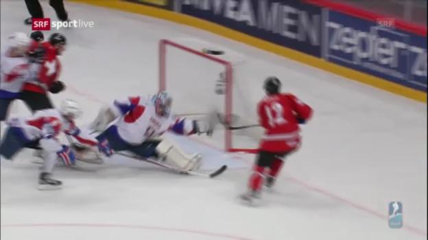 Video «Schweiz - Slowenien: Die Tore («sportlive»)» abspielen