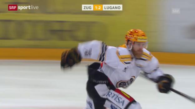 Video «Zug verliert nach einem umstrittenen Penaltyschiessen gegen Lugano» abspielen