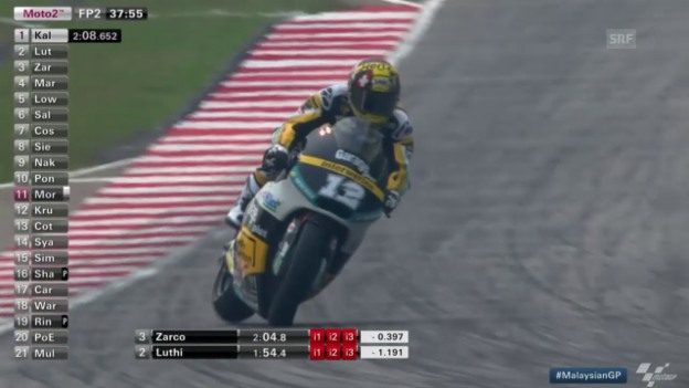 Video «Motorrad: GP Malaysia, Moto2-Training» abspielen