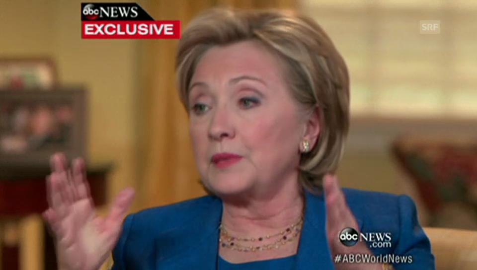Clinton über die Kandidatur für die US-Präsidentschaft (englisch)