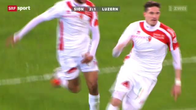 Fussball: Super League, Sion - Luzern