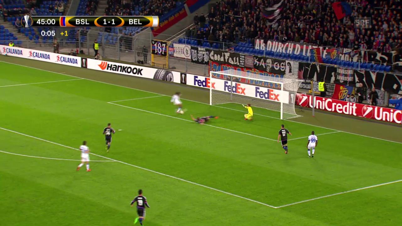 Fussball: Europa League, 3. Spieltag, Basel - Belenenses, die Tore