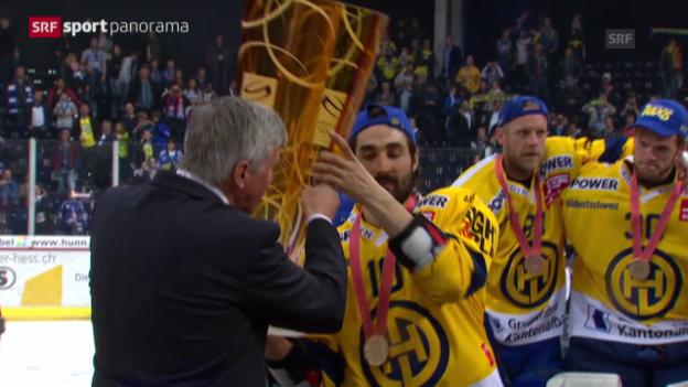 Video «Eishockey: Playoff-Final, Siegesfeier HCD» abspielen