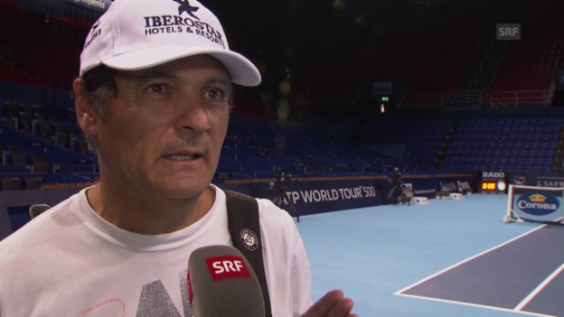 Video «Tennis: Swiss Indoors Basel, Interview Toni Nadal» abspielen