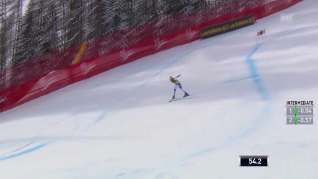 Video «Ski: Super-G Cortina, Fahrt und Sturz von Gisin» abspielen