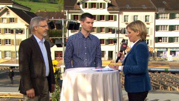 Video «Michael Pesaballe, Student, und Niklaus Hauser, Prorektor Kantonsschule Glarus» abspielen