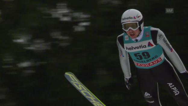 Video «Skispringen: Weltcup in Engelberg, 2. Sprung von Ammann («sportlive», 22.12.2013)» abspielen