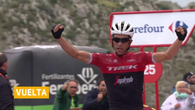 Video «Contadors persönliches Schlussbouquet an der Vuelta» abspielen